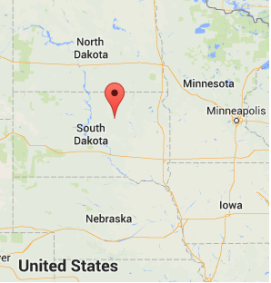 Location of Faulkton, South Dakota Source: Google Maps