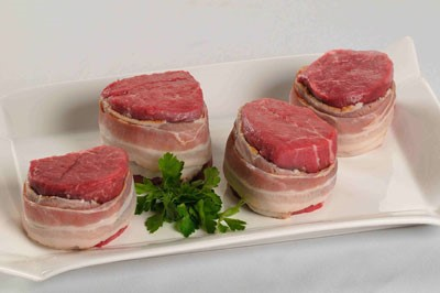 Uncooked Bacon Wrapped Filets. Source: SteakGifts.net