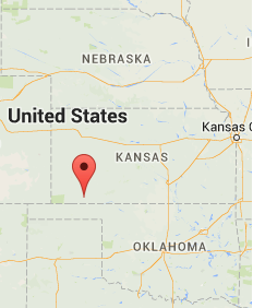 Location of Kismet, KS. Source: Google Maps